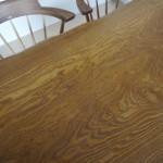槐(えんじゅ)の一枚板のテーブルお届けしました。