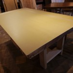 一枚板テーブルの型紙をお送りします
