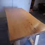 一枚板テーブルのお手入れをしました