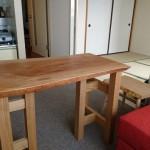 一枚板テーブル 小振りな自分だけのサイズ