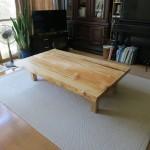 栃の一枚板テーブルをお届けしました。