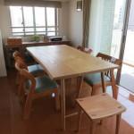 ダイニングテーブル「椅子は少しずつ揃えていきます。」
