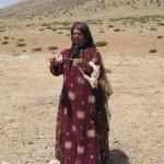 アートギャッベ 羊の毛を手で紡ぐ