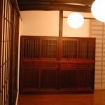 オーダー家具 水屋の棚を提案しています。