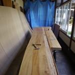 一枚板テーブル 4mの栃カウンター材の行方_②