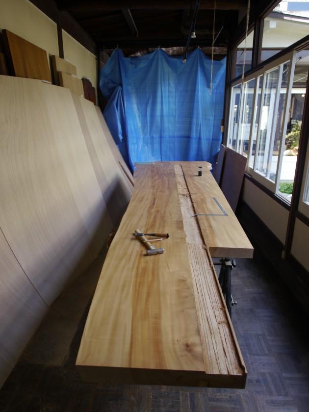 松葉屋家具店 一枚板テーブル