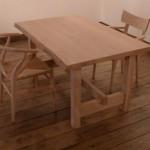 オーダーテーブル  ソープ(石けん)で仕上げた テーブルをつくりました。
