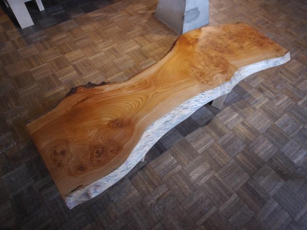 松葉屋家具店 一枚板テーブル ケヤキ