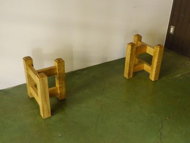一枚板テーブル用座卓兼用脚 キャップ式47センチ