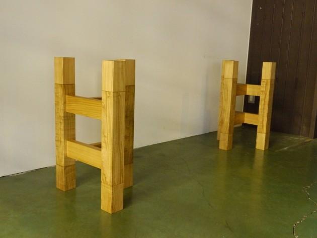 一枚板テーブル用座卓兼用脚 キャップ式70センチ