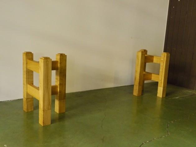 一枚板テーブル用座卓兼用脚 キャップ式58センチ