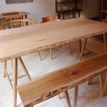 松葉屋の「ハギ」のテーブル