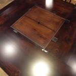 オーダー家具 赤松の古材を使った炉付のテーブル納品しました。