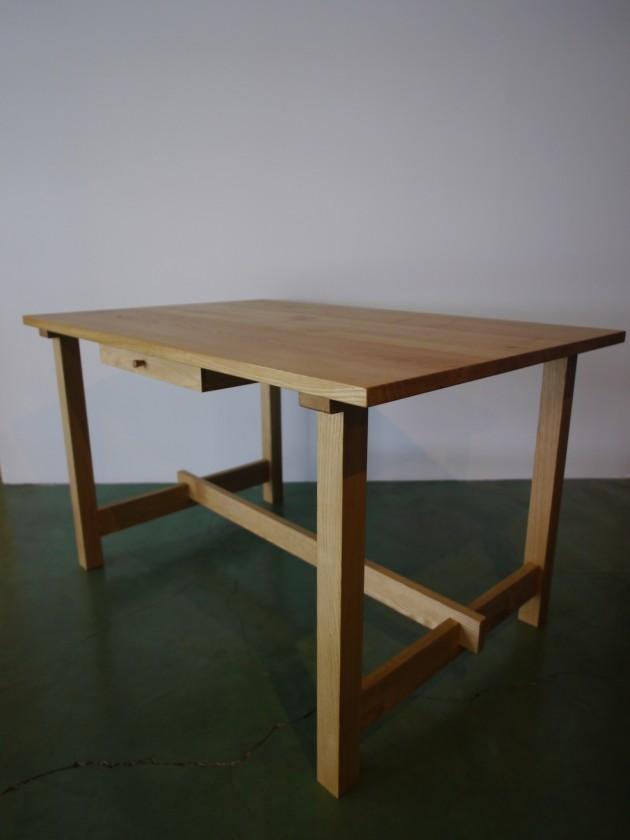 松葉屋 栗のテーブル1200引き出し付き
