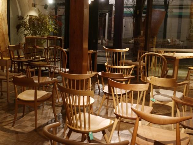 椅子展準備