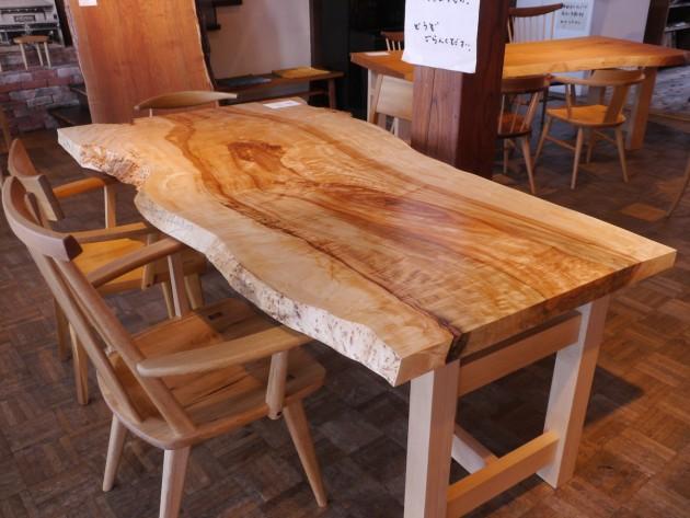 栃28-30一枚板テーブ天板