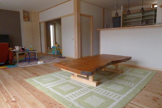 山桜一枚板テーブル座卓
