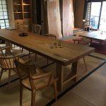 松葉屋出張展 松本市中町蔵シック館 「広葉樹一枚板のテーブル展」