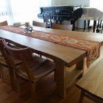 山桜の一枚板テーブル 東京都K様