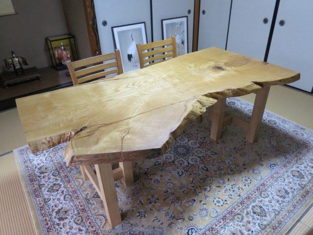 松葉屋家具店 栗一枚板テーブル