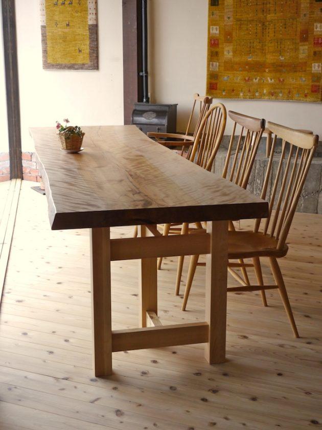 水目桜の一枚板テーブル2900